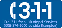 Dial 311 to access Municipal Services