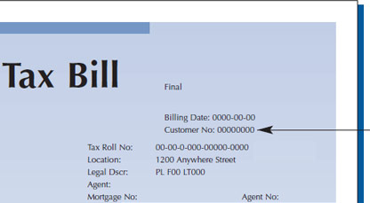 Tax Bill Customer Number